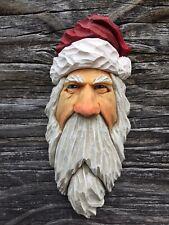 Santa Wood Carving Wizard Big Ooak Red Hat Elf Ooak Scott Longpre Originals #3