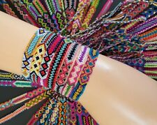 10pcs/lot Mixing Multicolor Friendship Bracelet Boho Handmade Woven Cotton line.