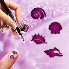 Aerógrafo adhesivo Plantilla Set 049- Nail art Conchas Caracol Verano 4x20