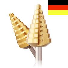 HSS TiN Profi Stufenbohrer 10- 45 mm Schälbohrer Konusbohrer Kegelbohrer DE