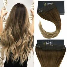 Invisible Halo Human Hair Extensions Wire Balayage Brown to Blonde 4/6/22#
