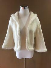 Vintage Saks Fifth Avenue Short Cropped Shrug Sweater w Rhinestones