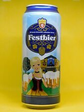 Empty Can Of German Beer Perlenbacher Festbier. 500 ml. 2019. Bottom Open!