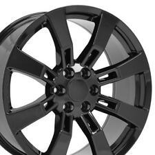 22x9 Wheels Fit Cadillac Escalade BLK Rims 5409 W1x Set of 4