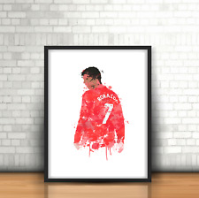 Cristiano Ronaldo-Manchester United inspirado en fútbol Art Print número 7 CR7