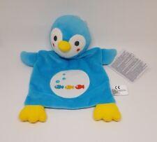 Doudou Pingouin Bleu Blanc Jaune poissons bulle Plat Nicotoy Simba Benelux NEUF