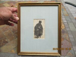 "Antique Rembrandt  Van Ryin ""Beggar with a Wooden Leg"" - 16th Century Etching"