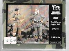 Verlinden WWII Wounded German Soldiers, Resin Figures in 1/35 2059 ST