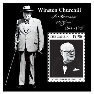 Gambia - Sir Winston Churchill - Souvenir sheet - 2015 MNH