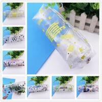 Kpop NCT BLACKPINK TWICE EXO Clear PVC Pen Bag Pencil Case Storage Makeup Bag