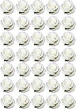 35 White ROSE Roses Flower Love Edible Cup Cake Fairy Toppers Wedding Wafer