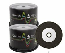 600 x Xlayer Black Bottom Vinyl CD-R blank CD discs White Printable 48x 700MB