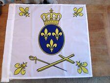 Drapeau catholique royaliste vendéen Fleur de Lys roi Sacré Coeur de Jésus Flag