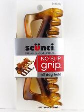 SCUNCI NO SLIP GRIP JAW HAIR CLIP - 1 PC. -  TORTOISE (36233-A)