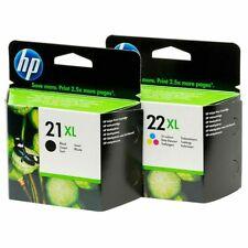 GENUINE HP 21XL Black & 22XL Colour ORIGINAL Inkjet Cartridges C9351CE C9352CE