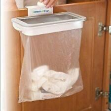 Plastic Attach-A-Trash Hanging Trash Bag Holder Kitchen Bathroom Tool Q