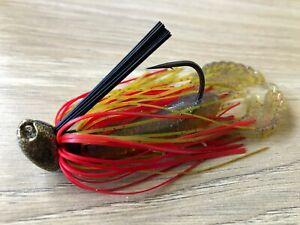 Bass // Yellowbelly 3//8oz WHACKED BRUSH HEAD JIG ~ BRUISER ~ Weedless
