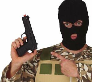 Toy Gun Plastic Handgun Detective Secret Agent Fancy Dress Pistol Halloween 24cm