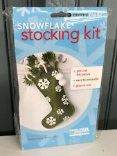Snowflake Felt Christmas Stocking Craft Kit