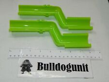 Lot of 2 Green S Track Parts Only Jumpster Xtreme Marble Mania Techno Gears