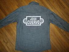 TEQUILA CUERVO LA ROJENA DENIM SHIRT Mens Button Front Jose SA de CV Embroidered