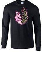 Buck Camo & Pink Doe Heart Deer Hunting Crew Neck Sweatshirt SM To 4XL THE BEST