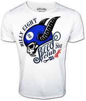 BILLY EIGHT ★ Speed Club ★ Oldschool Rockabilly Klassiker T-Shirt für Herren NEU