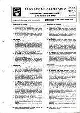 Service Manual-Anleitung für Blaupunkt Granada 24400