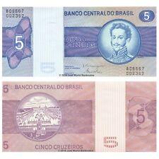 Brazil 5 Cruzeiros ND (1979) P-192d Sig. 19 Banknotes UNC