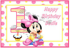 Baby MInnie 1/2 sheet Edible image cake topper fast shipping