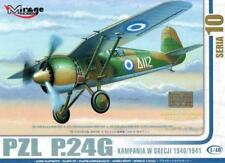 PZL P.24 G - WW II FIGHTER  (GREEK AF 1940/1941 MARKINGS) 1/48 MIRAGE RARE