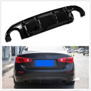 Glossy Black Rear Bumper Diffuser Lip Kit for Infiniti Q50 2014 2015 2016 2017