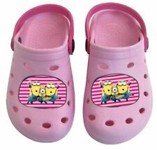 Kinder Schuhe Clogs Sandalen Sandaletten Minions rosa Gr. 32/33
