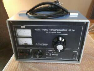 Der 2. RT5A Regeltrenntrafo Grundig Regel-Trenn-Transformator RT 5A