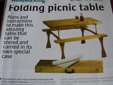 Lavorazione del legno piani per PIEGH. Picnic Tavolo e case in legno massello & Ply