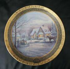 2002 Thomas Kinkade Memories Of Christmas Collector's Plate