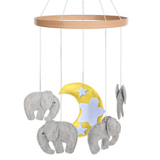 Cot Baby Mobile - Crib Toy Accessories for Boys + Girls Baby Elephants