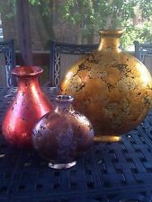 "Decorative Vases Set Of 3 Country Home Accents Centerpieces H 14""Ceramic"