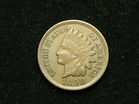 ESTATE SALE COIN AU 1898 INDIAN HEAD CENT PENNY w/ FULL LIBERTY & DIAMONDS #179v