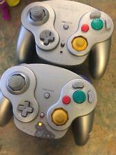 2 Grey Nintendo Pelican Wavebird Wireless Gamecube Controller NO RECEIVER/DONGLE