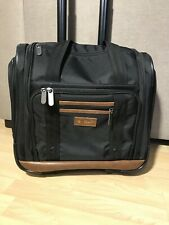 "ORIGINAL PENGUIN Wheeled Under The Seat Carry On Bag 16""  Black"