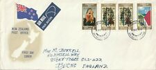 1973 New Zealand oversize FDC cover Christmas sent from Tauranga to Stoke Poges