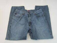 Vintage Tommy Hilfiger Freedom Jeans Box Logo Relaxed Fit Medium Wash 36X30