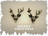 Christmas Stag/Reindeer Stud Earrings,Antlers,Vintage,Deer,Gift Idea,Christmas