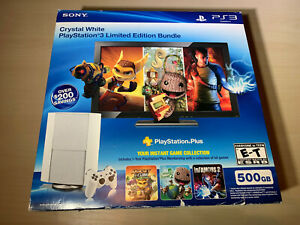 Box Only - Sony Playstation 3 PS3 Crystal White 500GB Ratchet & Clank