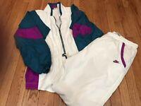 Vintage Nike Full Zip Windbreaker Tracksuit Set Pants Jacket Women's Sz Large L