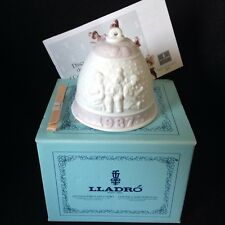 New in Box Lladro 1987 Christmas Bell