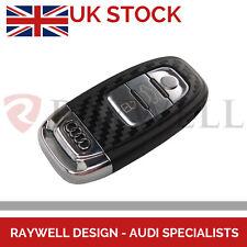 AUDI CARBON FIBRE NEW STYLE KEY COVER STICKER A3 A4 A5 A6 A7 A8 Q3 Q5 Q7