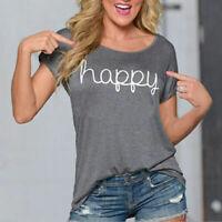 Fashion Women Loose Short Sleeve Cotton Casual Blouse Shirt Tops Summer T-shirt