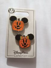 Disney * HALLOWEEN * MICKEY & MINNIE FACE PUMPKINS * New On Card 2-Pin Set